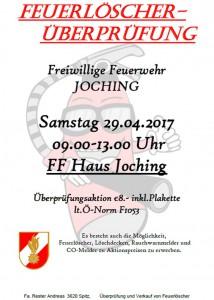 Feuerlöscherüberprüfung Joching